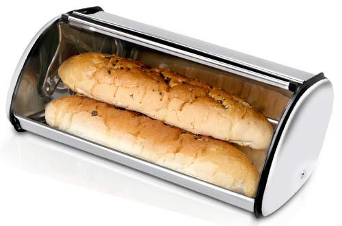 Bread Storage Box - Stainless Steel Construction