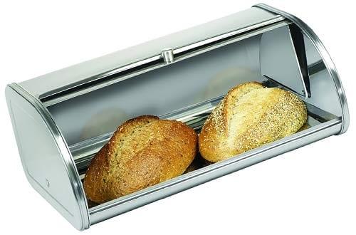 Anchor Hocking Fingerprint Free Brushed Steel Bread Box