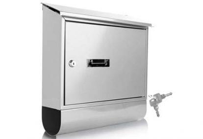 Serenelife Modern Wall Mount Lockable Mailbox
