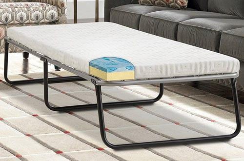 Lane Foldaway Guest Bed: Folding Steel Frame with Gel Memory Foam Mattress