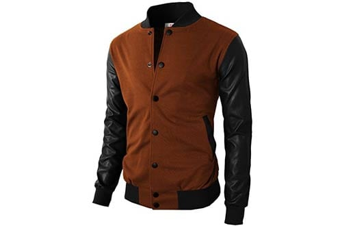 H2H Men'sVarsity Baseball Jacket