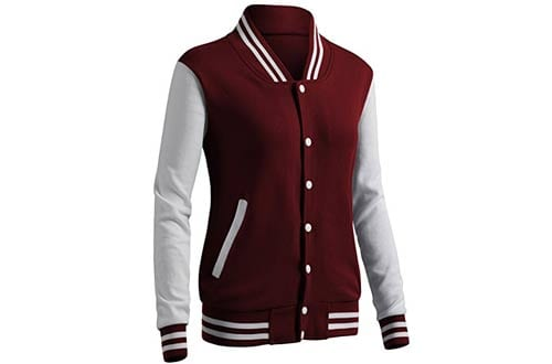 CLOVERY Women's Casual Baseball Jackets