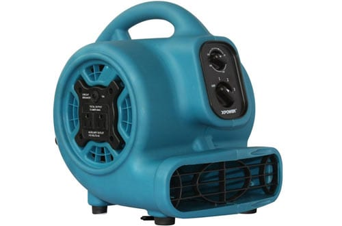 XPOWER P-230AT 1/5 HP 800 CFM 3 Speeds Mini Air Mover