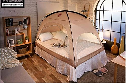 DDASUMI Warm Tent for Single Bed without Floor