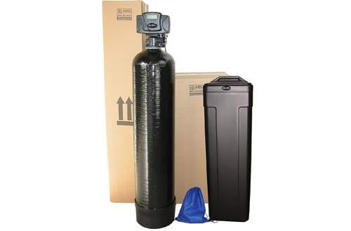 ABCwaters Built Fleck 5600sxt 48,000 Black SPACE SAVER Water Softener