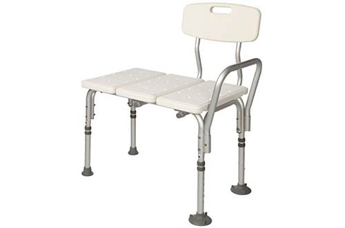 White Lightweight Transfer Bench