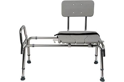 Duro-Med Heavy-Duty Sliding Transfer Bench Shower Chair