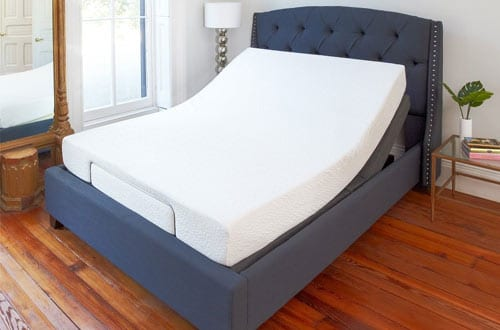 Comfort Adjustable Bed Base with Massage, Wireless Remote