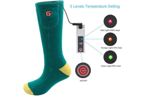 Greensha Rechargeable Electric Battery Heated Socks
