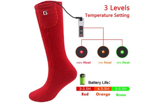 Heated Socks kit with Electric Rechargeable Battery