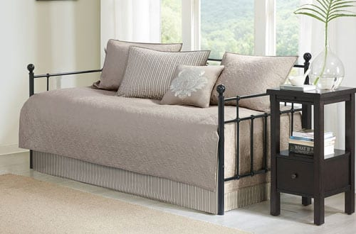 Quebec 6 Piece Daybed Set Khaki Daybed