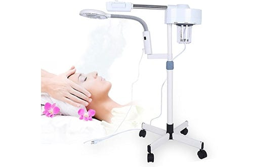2in1 Facial Steamer LED 3X Magnifying Floor Lamp Machine