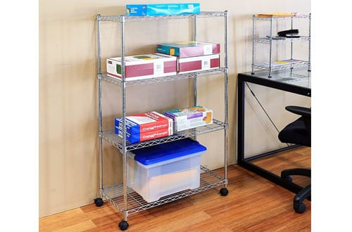 Seville Classics 4-Tier UltraZinc Steel Wire Shelving