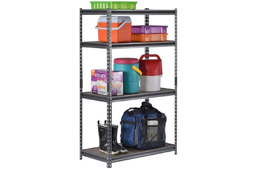 Steel Shelving in Silver Vein