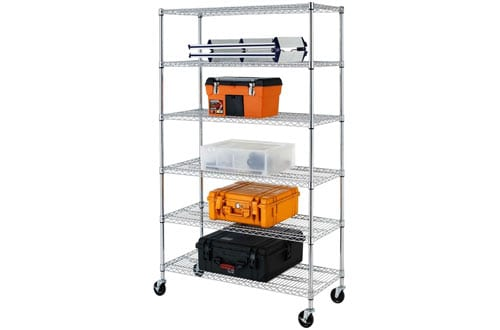 Adjustable Steel Wire Metal Shelving Rack