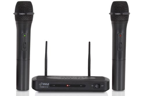 Wireless FM Microphone Receiver System