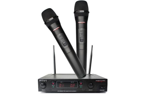 Phenyx Pro Dual VHF Wireless Microphone System