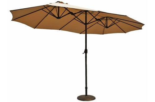 Outdoor Double-Sided Aluminum Patio Umbrella