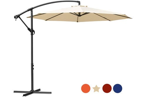 Masvis Offset Umbrella Cantilever Patio Umbrella