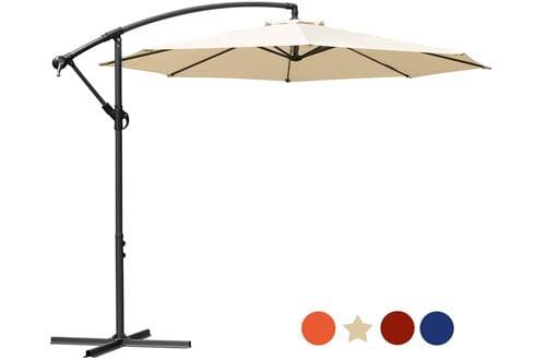 Masvis Offset Umbrella Cantilever Patio Umbrella