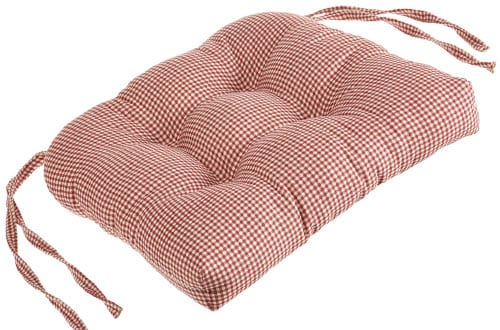 Logan Gingham Check Print Cushioned Chair Pad