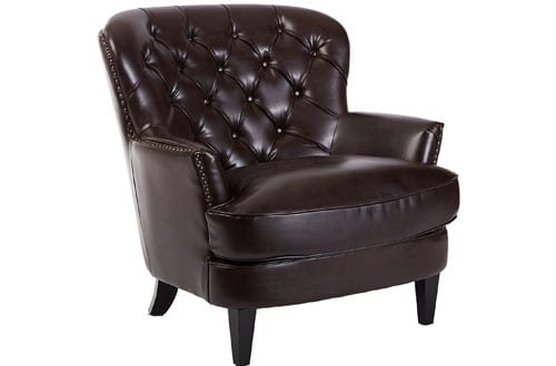 Best Selling Tufted Brown Leather Club Chair