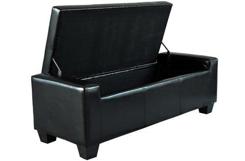 Homcom Faux Leather Storage Ottoman / Shoe Bench