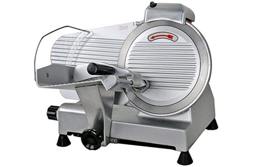 F2C Professional Stainless Steel Semi-Auto Meat Slicer Electric Food Slicer