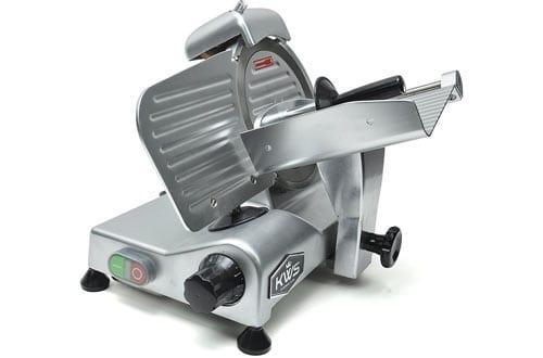"KWS Premium 200w Electric Meat Slicer 6"" Frozen Meat Deli Slicer Coffee Shop"