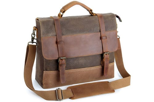 Canvas Leather Shoulder Bag