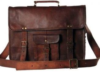 Handmadecraft Leather Unisex Real Leather Messenger Bag for Laptop