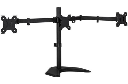 Triple Monitor Stand Freestanding LCD Computer Screen Desk Mount