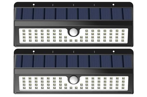Lemontec Solar Lights, 62 LED Wall Solar Light Outdoor Security Lighting