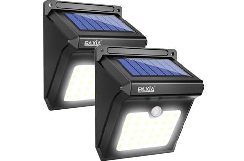 BAXIA Technology LED Solar Lights Outdoor, 400 Lumens Wireless Waterproof Motion Sensor Security Lights