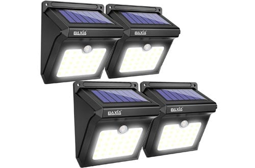 BAXIA TECHNOLOGY Solar Lights Outdoor,Wireless 28 LED Solar Motion Sensor Lights