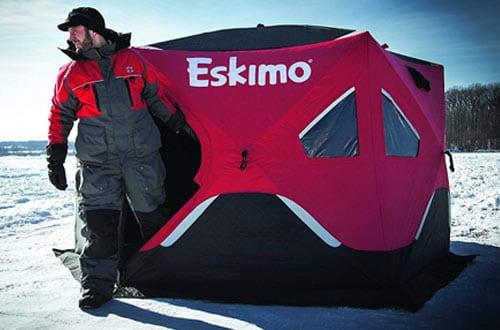 Eskimo FF6120I FatFish Insulated Pop-up Portable 6-Sided Ice Shelter