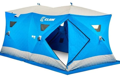 Clam Outdoors 10136 Big Foot XL6000T Garage Ice Fishing Shelter