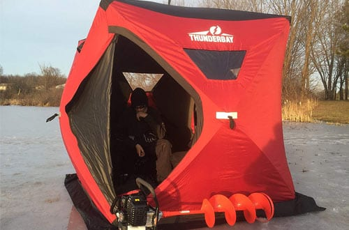 Ice Cube 3 Man Portable Ice Shelter by ThunderBay
