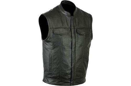 Ruja Sports SOA Style Genuine Leather Motorbike Vests