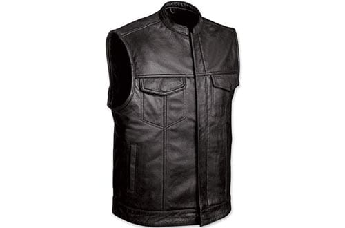 Monaco Traders Leather Motorcycle Vest for Men