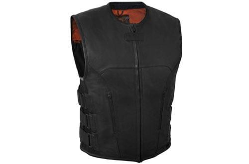 SOA Men's Leather Vest Anarchy Motorcycle Biker Club