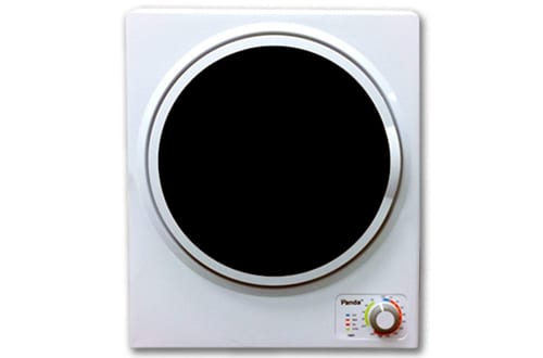 Panda 1.50 cu.ft White and Black Compact Laundry Dryer