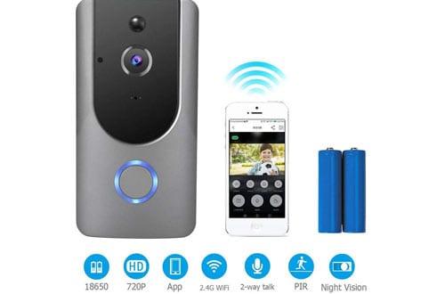 Mucjun Wifi Smart Door Bells,720p HD Door Chimes Camera