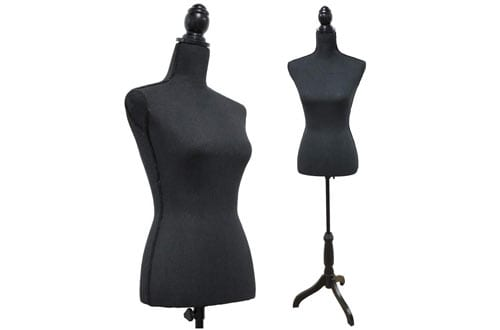 Black Female Mannequin Torso Dress Form Tripod Stand display