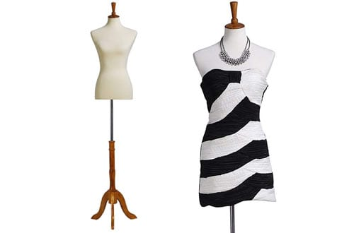 Beige Female Mannequin Body Dress Form