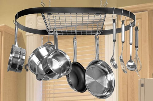 Top 10 Best Kitchen Hanging Pot Racks & Pot Hangers Reviews In 2018