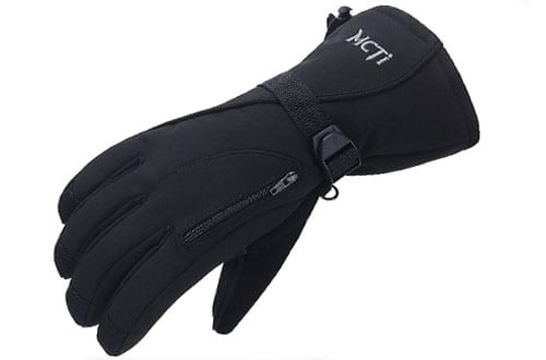 MCTi Waterproof Mens Cold Winter Weather Gloves for Ski