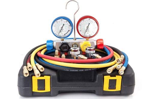 AURELIO TECH AC Manifold Gauge Setwith Hoses Coupler Adapters