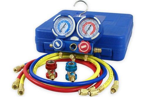 ZENYDiagnostic AC Manifold GaugeR134a Refrigeration Kit