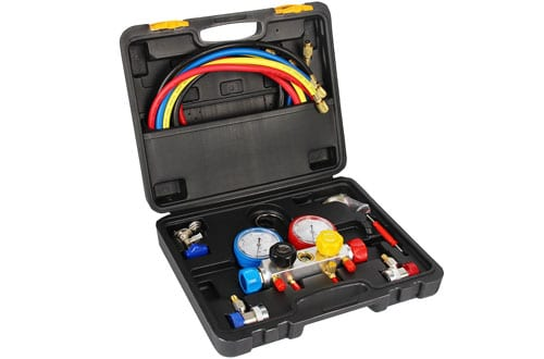Raomdityat AC Diagnostic Manifold Gauge Set forR410A R22 R134A HVAC